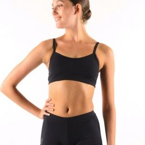 Capezio black sports bra